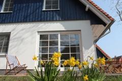 Erste Sonnenstrahlen auf unsere Ferienhaushälfte im Frühling.
